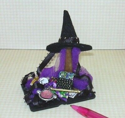 Miniature Shadow Box Witch Hat Making in Progress (BLACK #1): DOLLHOUSE 1/12