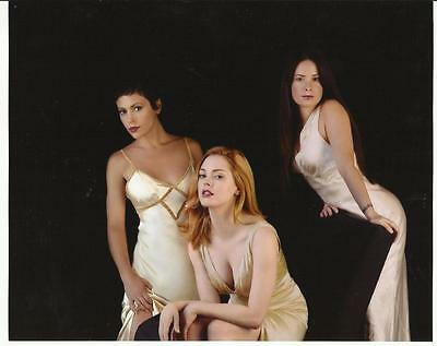 Charmed Holly Marie Combs Alyssa Milano Rose McGowan in White 8 x 10 Photo