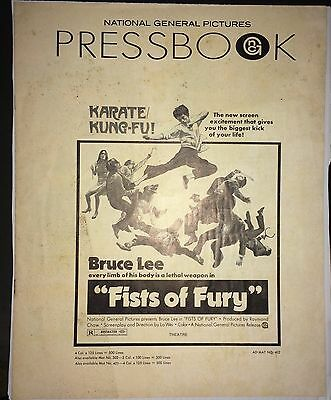 FISTS OF FURY (1973) Classic Bruce Lee Pressbook