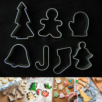 NEW CHRISTMAS xmas Cookie metal Biscuit cutters ANGEL STAR TREE BELL STOCKING