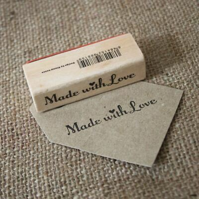 Made With Love Wooden Rubber Stamp - Craft / Scrapbooking / Handmade Tags