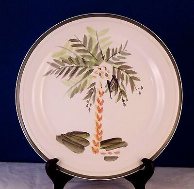 GIBSON PALM COURT BEAUTIFUL DINNER PLATE (S) Green Rim Lines No utensil marks