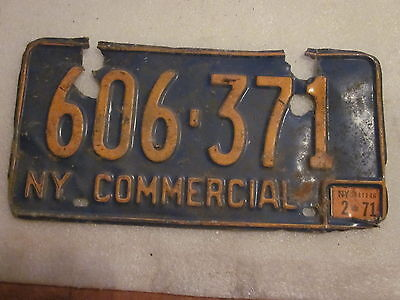 1966-73 New York State License Plate #606-371 with 1971 registration