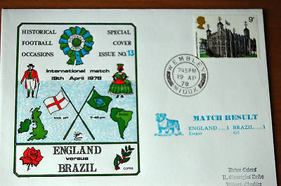 England v Brazil International at Wembley 1978 Football Cover
