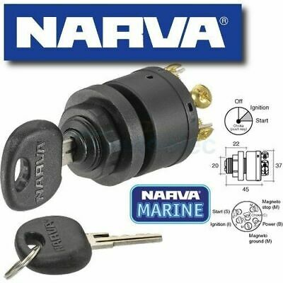 Narva 3 Position Ignition Switch + Push For Choke / Glow Marine Mower 12V 64008