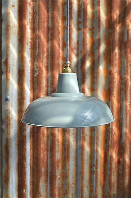 Retro Style French Grey/green Pendant Lightshade Lamp Shade Ceiling Light Fg1G3