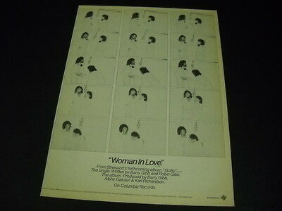 BARBRA STREISAND A Woman In Love with BARRY GIBB 1980 Promo Poster Ad mint
