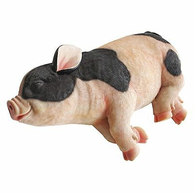 New Design Toscano 'Sleeping Pig' Garden Statue Figure Garden Ornament