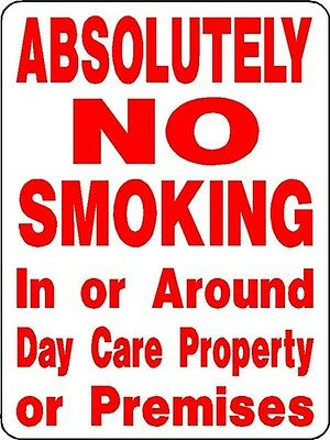 "NO SMOKING SIGN,DAYCARE SIGN,9""x12"" ALUMINUM SIGN,SAFETY,CHILDREN-3325"