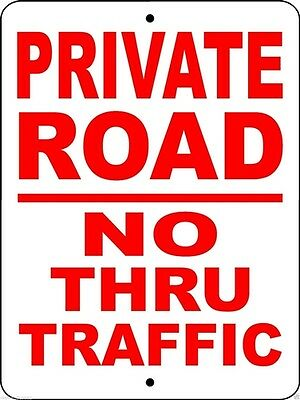 "PRIVATE ROAD SIGN,9""x12"" ALUMINUM,SECURITY SIGN,NO TRESPASSING SIGN,PRNTT1"