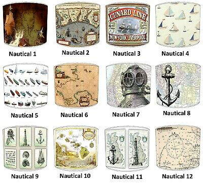 Nautical Designs Lampshades Ideal To Match Nautical Cushions Sailing Wall Decals
