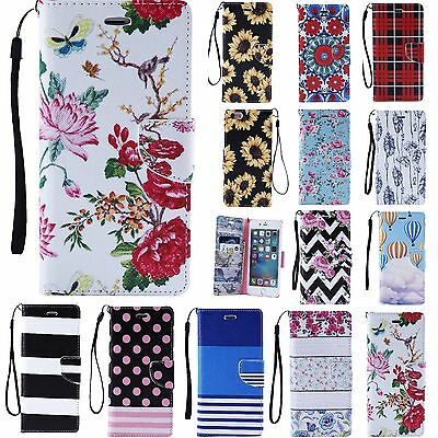 iPhone 6S PLUS iPhone 6 + Leather Wallet Card Holder Flip Stand Case Cover