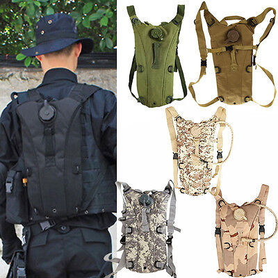 Military Hydration Backpack Tactical Assault Outdoor Hik Cycling Water Bag Pouch