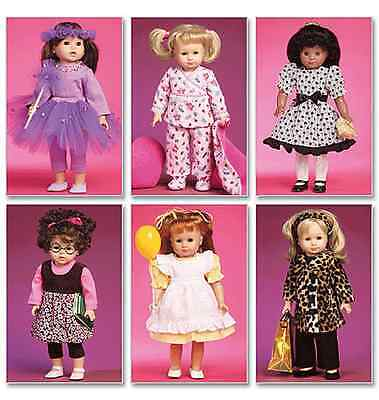 "McCalls Crafts Dolls Toys Sewing Pattern 6005 Clothes Accessories for 18"" Doll"