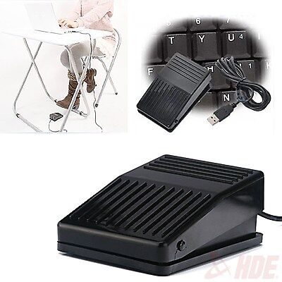 USB Foot Pedal Control Switch Game Pad Keyboard Mouse for Computer PC Laptop