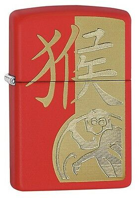 Zippo 28955 Year of the Monkey Red Matte Windproof 2015/2016 Choice Lighter NEW