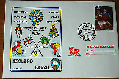 England v Brazil International at Wembley 1981 Football Cover
