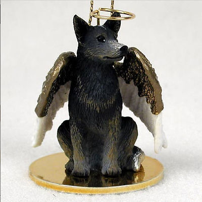 Australian Cattle Dog Figurine Angel Statue Blue