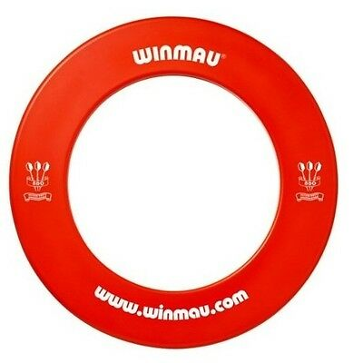 NEW WINMAU Professional Dart Board Surround one piece RED Made in the UK