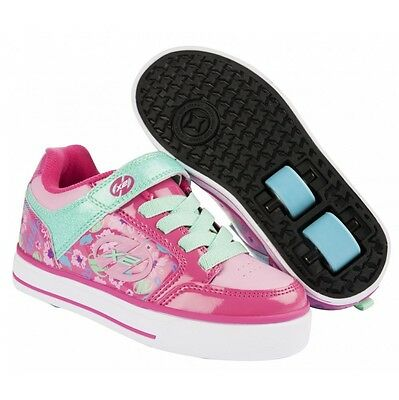 Heelys X2 Thunder Berry Light Pink Mint Roller Shoes+FREE HOW TO DVD
