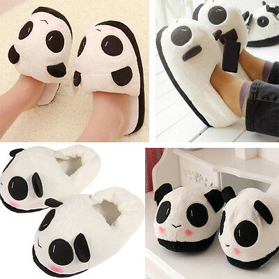 Women Girls Winter Indoor Home Slipper Cute Panda Warm Soft Plush Antiskid Shoes