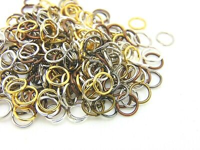 Mixed Colour Quality Metal Jump Rings 4 Colours Jewellery Beading Findings ML