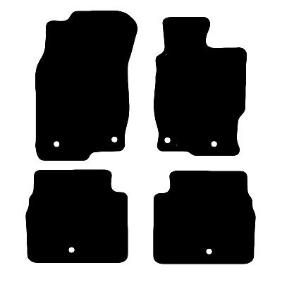 Mazda 6 2008 - 2013 Tailored Black Car Floor Mats Carpets 4 piece Set