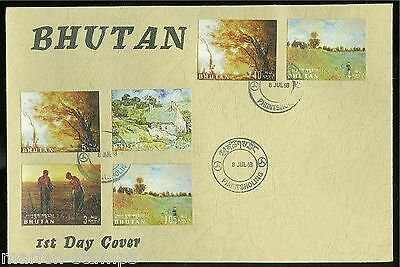 Bhutan 1968 Paintings Stamps  On First Day Cover