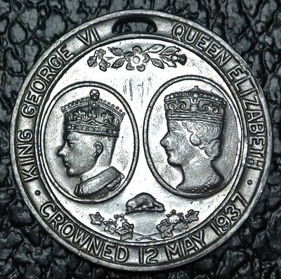 1937 KING GEORGE VI & QUEEN ELIZABETH CROWNED MEDAL - Nice