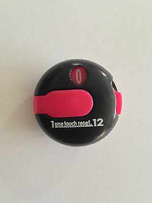 JL Golf EZ Count Stroke Counter scorer wrist upto 12 shots score black / red