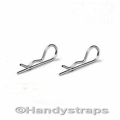 2 x  6mm x 125mm R Clips Retaining spring cotter TRAILER Stainless Steel Marine