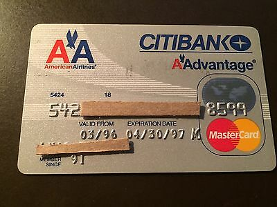 American Airlines 1997 Vintage Collectors Citibank MasterCard Credit Card