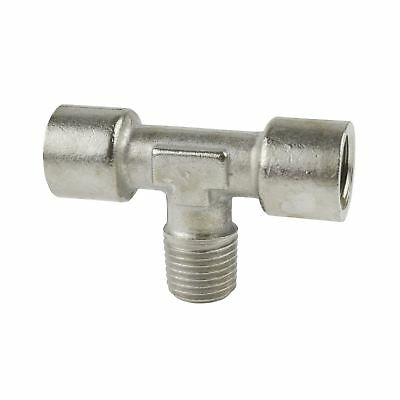 "1/4"" BSP Tee Piece Fitting Air / Hydraulic Line Female-Male-Female FT090"