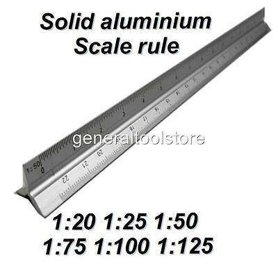 Solid Aluminium Scale Rule 320Mm Architects Engineers Scale Drawing Ruler Oa28