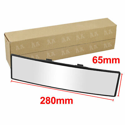 280mm Wide Curve Interior Clip On Rear View Mirror Universal 65mm 4 Car SUV