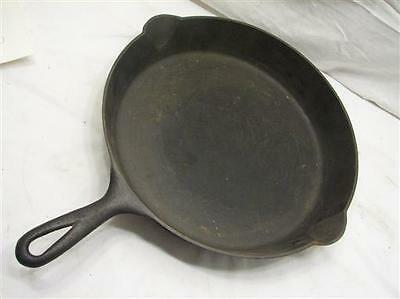 Antique Rare Mt. P.S.W. Cast Iron Skillet PSW No. 12 Fry Pan w/Heat Ring