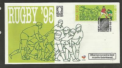 SOUTH AFRICA 1995 RUGBY WORLD CUP Single Value FIRST DAY COVER