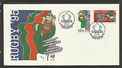 SOUTH AFRICA 1995 RUGBY WORLD CUP VICTORY Set of 2 FIRST DAY COVER