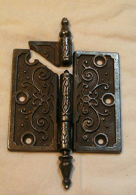 vintage VICTORIAN Eastlake Ornate `BROKE~ DOOR HINGE