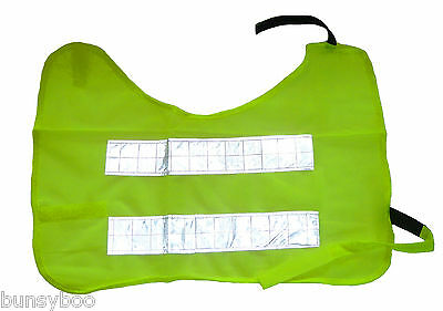 Hi Vis Dog Vest With Reflective Strips High Visibility Safety Jacket M L XL XXL