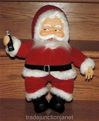 "EC 1988 15"" COCA-COLA SANTA PLUSH w/BOTTLE- for RICH'S by FRANCESCA & CO - DAKIN"