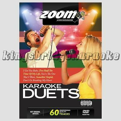 Zoom Karaoke DVD - Ultimate Karaoke Pop Duets 60 Tracks on 2 DVDs For DVD Player
