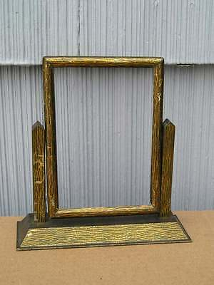 Antique Aesthetic Eastlake Victorian Art Crafts Bronze~Gold Swivel Picture Frame