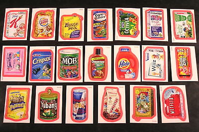 2010 Wacky Packages ANS7 Series 7 RED WACKO-MERCIAL SET OF 20 sticker cards nm+