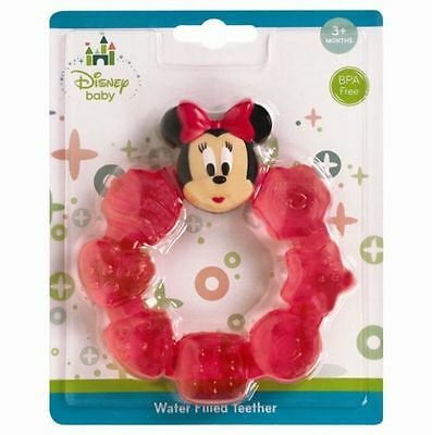 Baby Teeter Water Filled Ring Soother Minnie Mouse In Pink/red Uk Seller