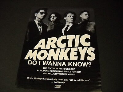 ARCTIC MONKEYS have a Platinum Hit Rock Song DO I WANNA KNOW Promo Display Ad