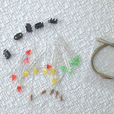 10 sets Target Faces + Accessories for 1:160 Railway signals N Scale 3 Aspects