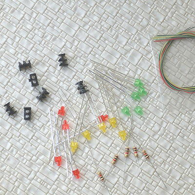 10 sets Target Faces + Accessories for Railway dwarf signals N Scale 2 Aspects