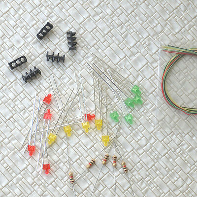 10 sets Target Faces + Accessories for Railway dwarf signals N Scale 3 Aspects