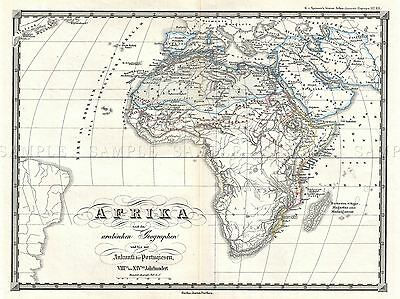 1855 Spruner Map Africa From 8Th 14Th Century Repro Poster 2922Pylv